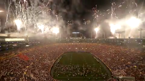 9184887d Watch: Fireworks over Lambeau Field during Packers Family Night 2019