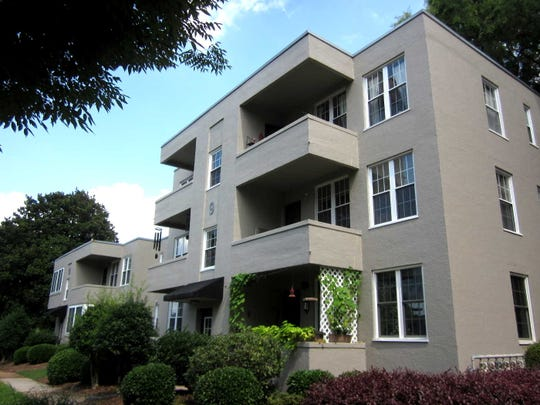 The 1939 McDaniel Apartments (now condominiums) are an unusually modern design well sited on 6 acres of landscaped land on Cleveland Street.