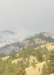 A wildfire in the Eagle Canyon and Stickney Creek areas near Craig prompted evacuations Friday evening.