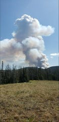 The Black Diamond Fire sparked Friday afternoon near Lincoln.