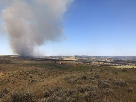 The Ridgetop Fire near Winnett in eastern Montana had burned around 4500 acres as of Saturday morning.