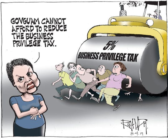 Sunday cartoon on business privilege tax.