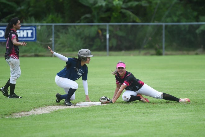 In this file photo from Aug. 3, Adztech took on the Queen Bs in APL Women's Fastpitch Softball League action at the Mike S. Tajalle Baseball Field in Piti. Southern plays Juice in the championship game scheduled for 7 tonight at the Piti field.