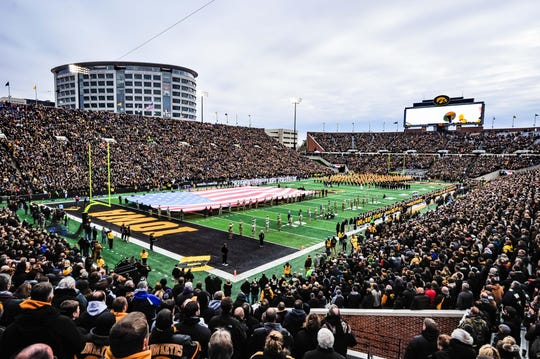 One of the best views in college football, from inside Kinnick Stadium.