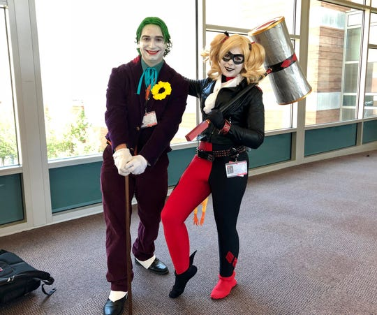 Sarah Haman and William Kent came to Indianapolis from Ohio to attend this year's Gen Con.