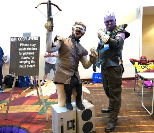 """Vince Accetturo and Mark Cashwell came to Gen Con as characters from """"Guardians of the Galaxy."""""""