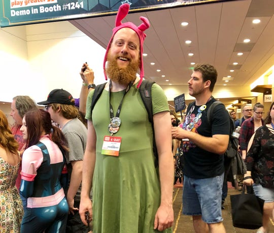 """Zach Coates attended Gen Con dressed as Louise from the show """"Bob's Burgers."""""""