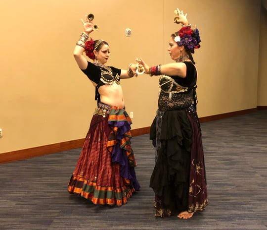 These belly dancers performed for Gen Conners on Saturday afternoon.
