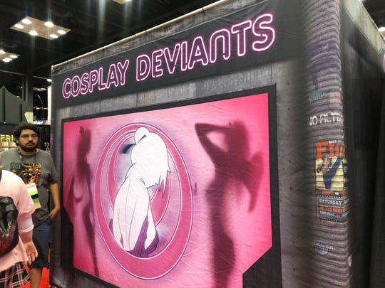The Cosplay Deviants tent in the exhibit hall was only open to those 18 and over.
