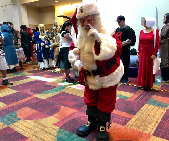 Santa traveled with his reindeer all the way from the North Pole to attend Gen Con.