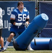 Offensive guard Quenton Nelson showed improvement Saturday.