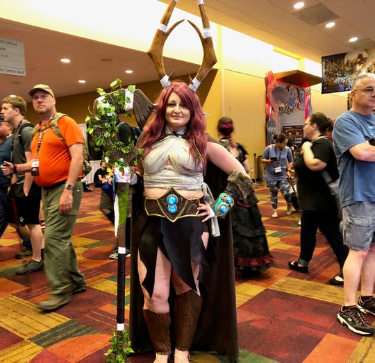 Andrea Langone attended her fifth Gen Con wearing a costume inspired by her own druid from Dungeons & Dragons.