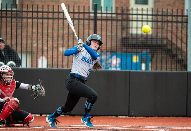 Former Lancaster softball standout Alexis Matheney was named to the Mid-American All-Freshman team in 2019.