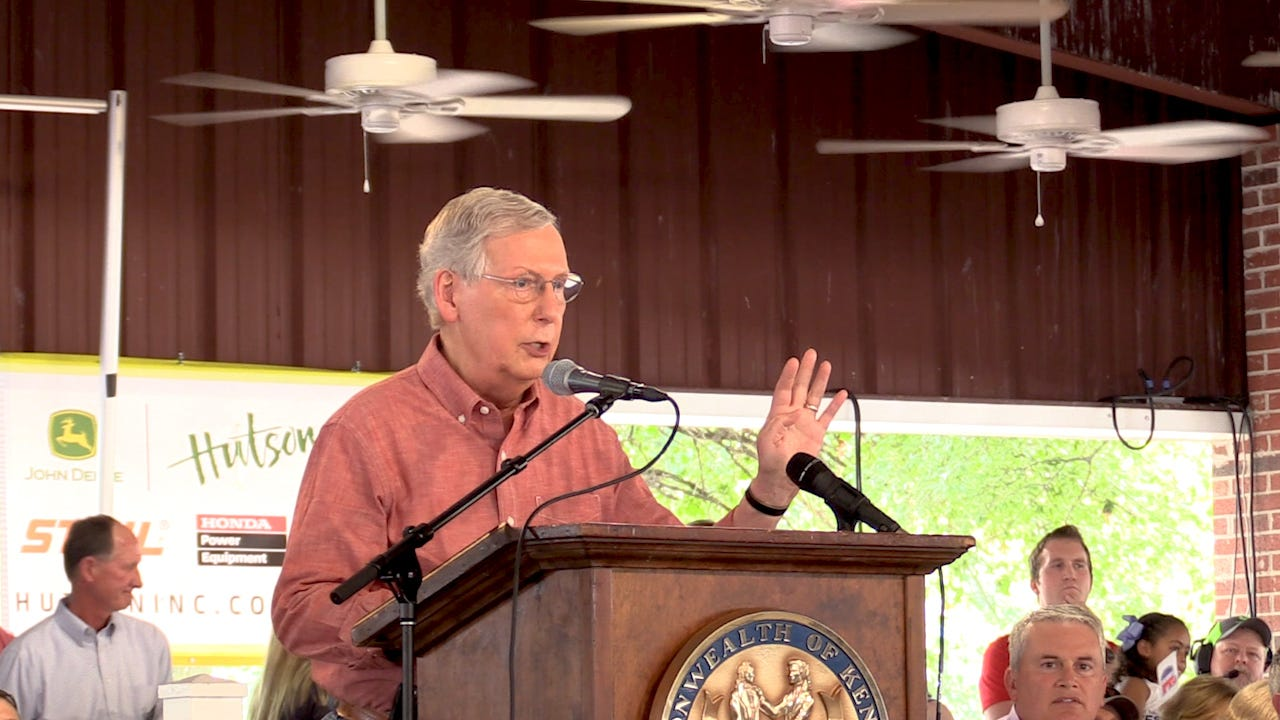 Mitch Mcconnell Injury Kentucky Senator Trips Fractures Shoulder
