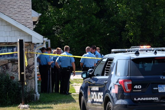 Lansing police were at the scene Saturday afternoon of a fatal shooting at a business near the intersection of Martin Luther King Jr. Boulevard and Jolly Road. Police identified the man who died as 21-year-old Tyrell Antonio Pettway.