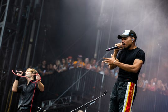 Chance the Rapper made a surprise appearance during Death Cab for Cutie's set at Lollapalooza in Chicago on Aug. 2, 2019.