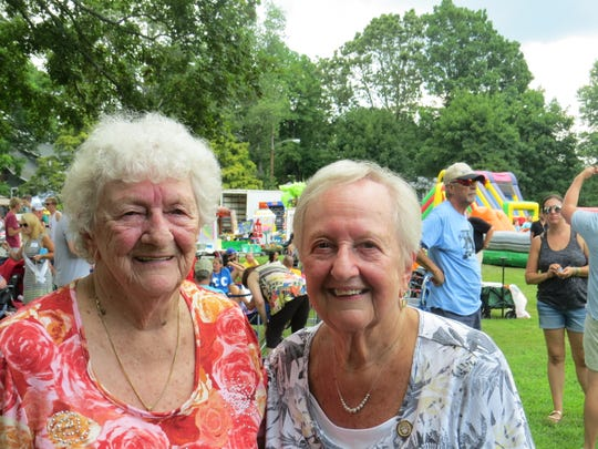 The 150th annual Mount Tabor Children's Day parade in Parsippany. August 2, 2019. Sisters Audrey Lynch Gilligan, 92, and Ruth Lynch Blazure, 89, were born 'on the hill.'