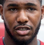 Alabama linebacker Terrell Lewis (24) during a media availability at Bryant-Denny Stadium on the UA campus in Tuscaloosa, Ala., on Saturday August 3, 2019.