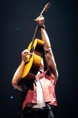Shawn Mendes performs at Bridgestone Arena in Nashville, Tenn., Friday, Aug. 2, 2019.