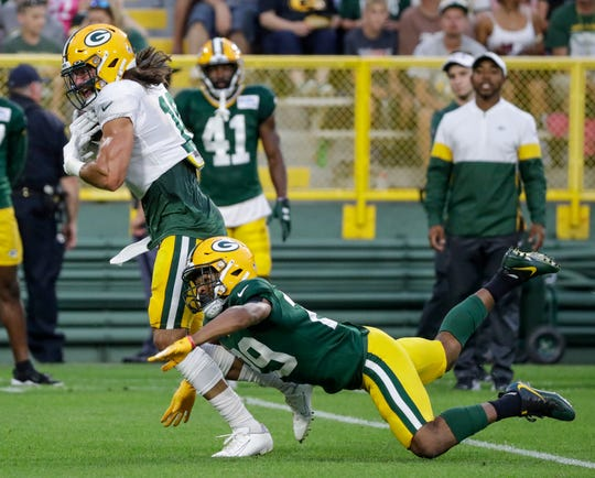 finest selection e07f1 fb8b0 Packers Camp Insider: Big nights for Tony Brown, Jake Kumerow