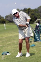 Jerry Stephens preparing to play 70 holes of golf for his birthday in 2003. Stephens passed away at 86 earlier this week.