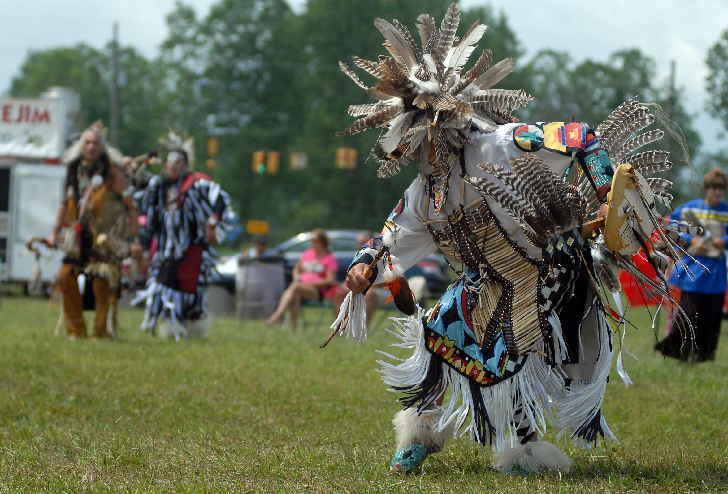 Marcel Smith, of Kettle Point, dances in traditional dress at the Black River Powwow in 2011 in Kimball Township.