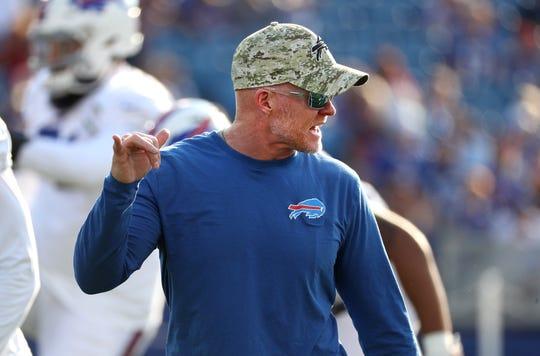 Bills head coach Sean McDermott during a practice at New Era Field.