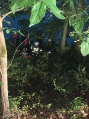 Rescuers from the Rogersville, Arkansas Fire Department responded Wednesday, July 31, 2019 after a stroller went down a steep embankment with a 22-month-old girl inside.
