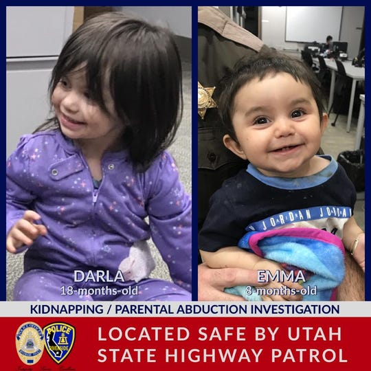 Two girls kidnapped from southern California were found Thursday in Iron County by a Utah Highway Patrol trooper.