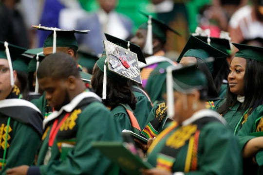 FAMU graduates showed off their creativity with their caps at the the summer commencement ceremony Friday, Aug. 2, 2019.