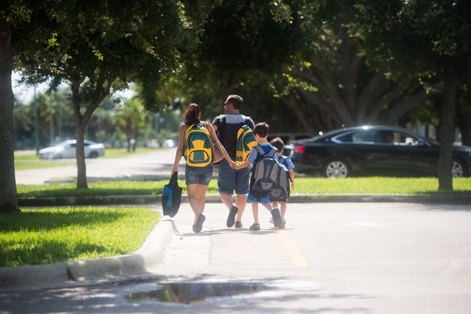 Children and families get prepared for the beginning of school at the 12th annual Back to School Expo at the Havert L. Fenn Center on Saturday, Aug. 3, 2019, in Fort Pierce. Students in all three districts return to school Monday for their first day of classes.