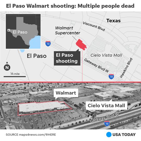 El tiroteo fatal en un centro comercial de El Paso se da el 3 de agosto, 2019.
