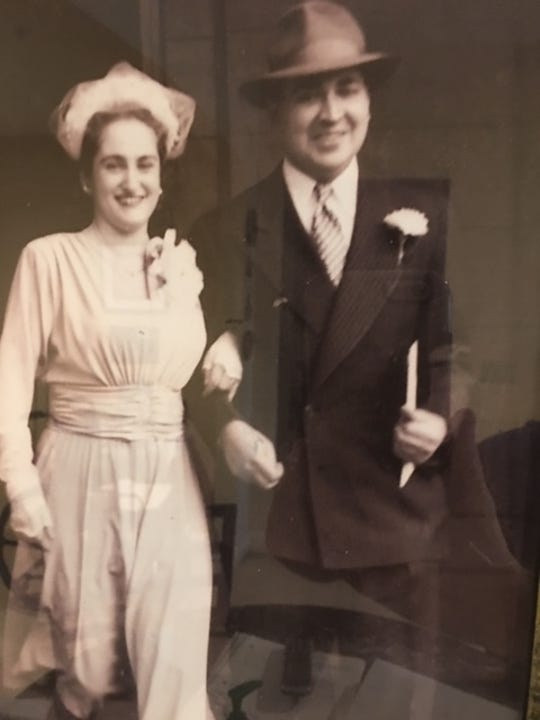 Ilse and Walter Loeb seen at their wedding in 1949.