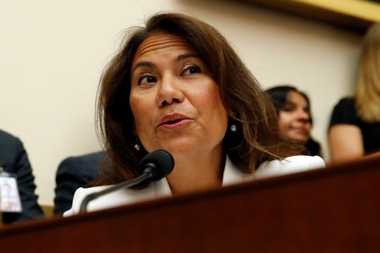 Rep. Veronica Escobar, D-Texas, questions former special counsel Robert Mueller as he testifies before the House Judiciary Committee hearing on his report on Russian election interference, on Capitol Hill, Wednesday, July 24, 2019 in Washington, D.C.