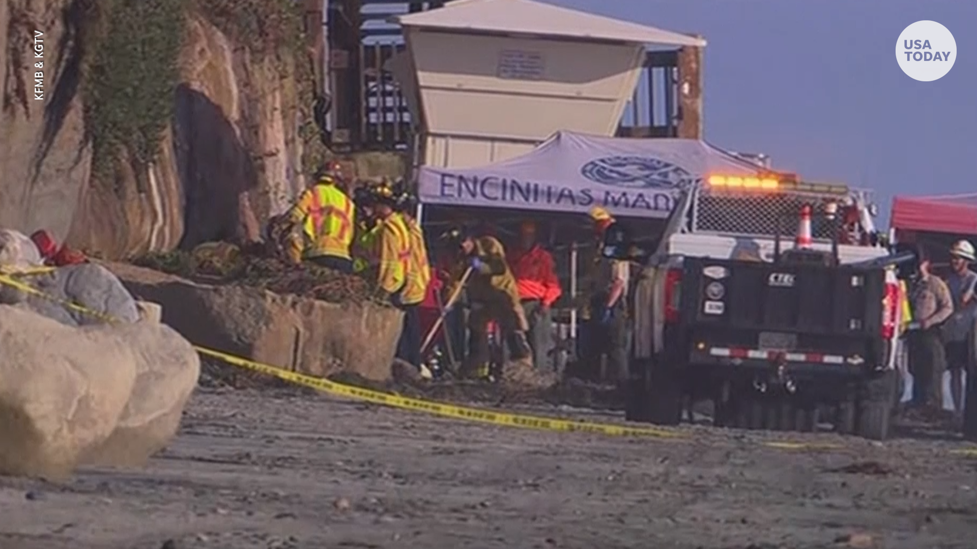 At least 3 dead after cliff collapse on California beach