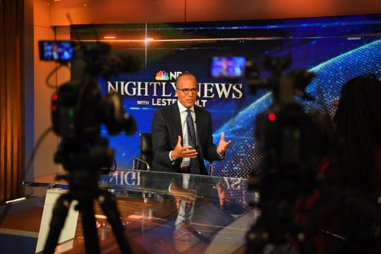 Lester Holt talks about his visit to Angola prison during an interview with USA TODAY editor Eileen Rivers.