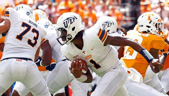 UTEP quarterback Kai Locksley (1) is expected to have charges against him reduced.