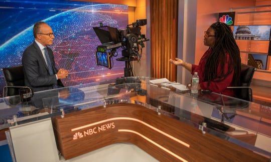 """""""The other thing I think that being in prison really helped me understand was how we are able to adapt as human beings,"""" said Lester Holt of his stay in Louisiana's Angola prison. USA TODAY's Eileen Rivers interviewed him about NBC News' Justice for All series."""