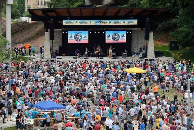 Cory Chisel performs at Jones Park during the third day of the seventh annual Mile Of Music festival on Aug. 3, 2019, in downtown Appleton. The massive original music festival appears likely to return this summer.
