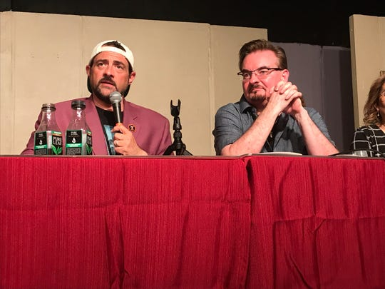 "Kevin Smith, left, and Brian O'Halloran at a staged reading of the ""Clerks 3"" screenplay at the First Avenue Playhouse in Atlantic Highlands on Aug. 3, 2019."