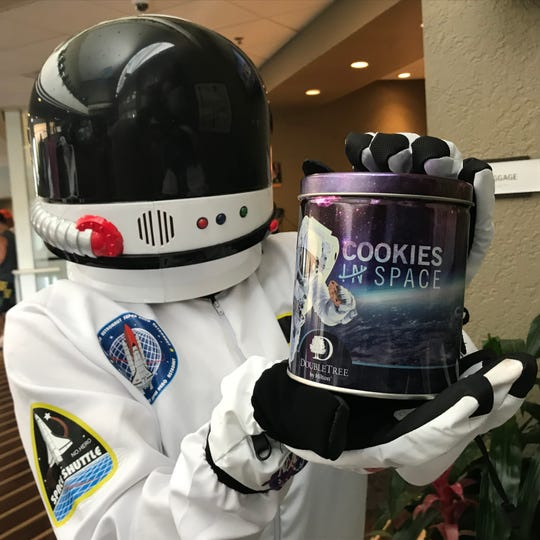 The cookie dough used by DoubleTree Suites will be sent to the International Space Station as part of a baking experiment.