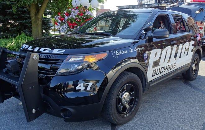 A Bucyrus Police Department patrol car.