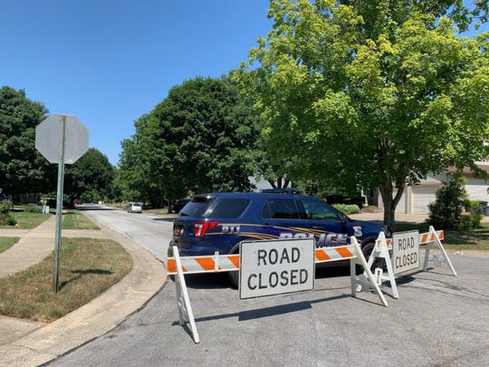 Police blocked off the street of Moira and Stephen Betts in the Dayton, Ohio suburb of Bellbrook. Officials searched the house after the Betts' son, Connor, was accused of killing nine people and injured 26 in a shooting spreed in Dayton early on Aug. 4, 2019. One of the dead was the Betts' daughter, Megan, 22.