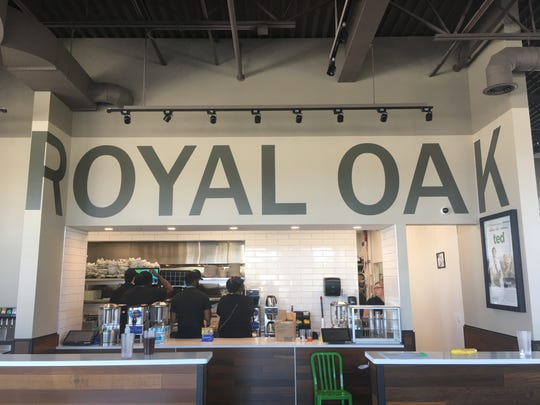 Several nods at the new Wahlburgers pays tribute to Royal Oak.