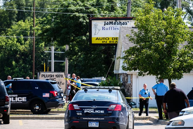 Lansing police were at the scene Saturday afternoon of a fatal shooting at a business on the 5100 block of South Martin Luther King Jr. Boulevard. Police identified the man who died as 21-year-old Tyrell Antonio Pettway.