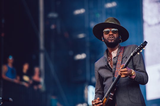 Gary Clark Jr. performs at Lollapalooza in Chicago on Aug. 3, 2019.