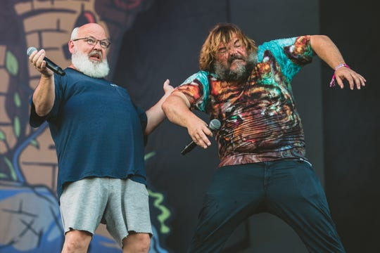 Tenacious D performs at Lollapalooza in Chicago on Aug. 3, 2019.