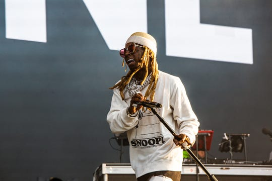 Lil Wayne performs at Lollapalooza in Chicago on Aug. 3, 2019.