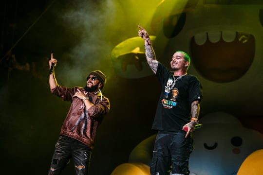 J. Balvin made Lollapalooza history as the fest's first Latin pop headliner Saturday — and he brought out seminal reggaeton duo Wisin y Yandel.
