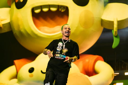 J. Balvin headlines Lollapalooza in Chicago on Aug. 3, 2019.